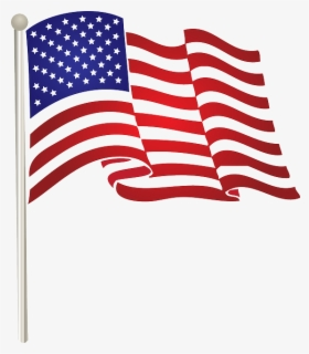 Free American Flag Free Clip Art with No Background.