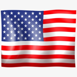American Flag Clip Art High Quality Image.