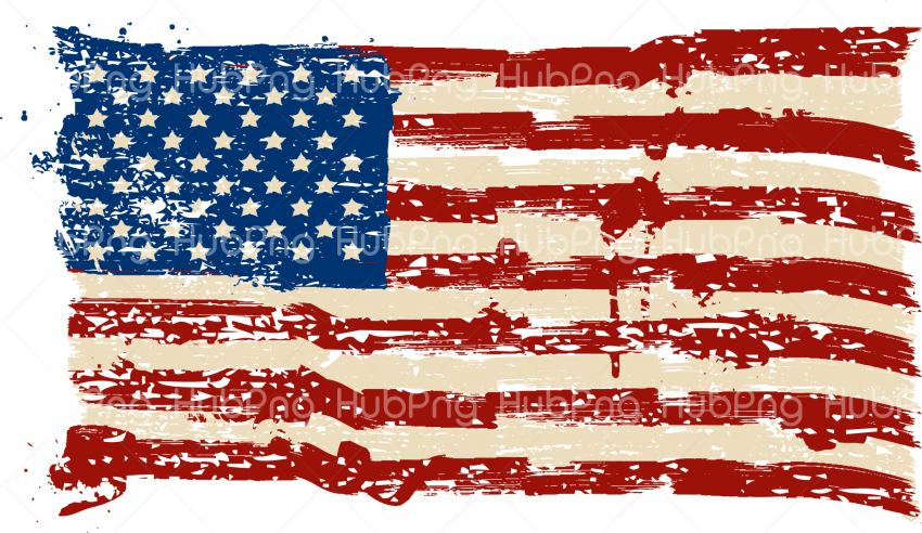 america US flag png clipart hd Transparent Background Image.