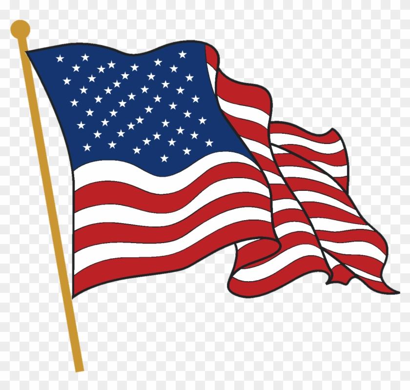 American Flag Waving Png.