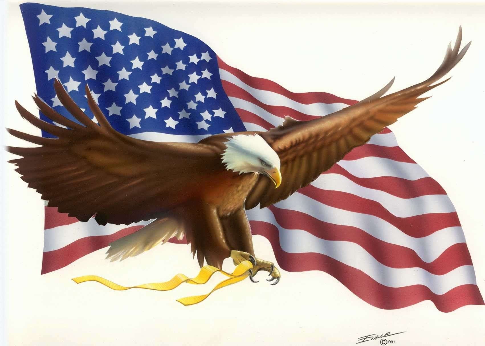 Wallpaper Of The Day: Eagle And Flag.