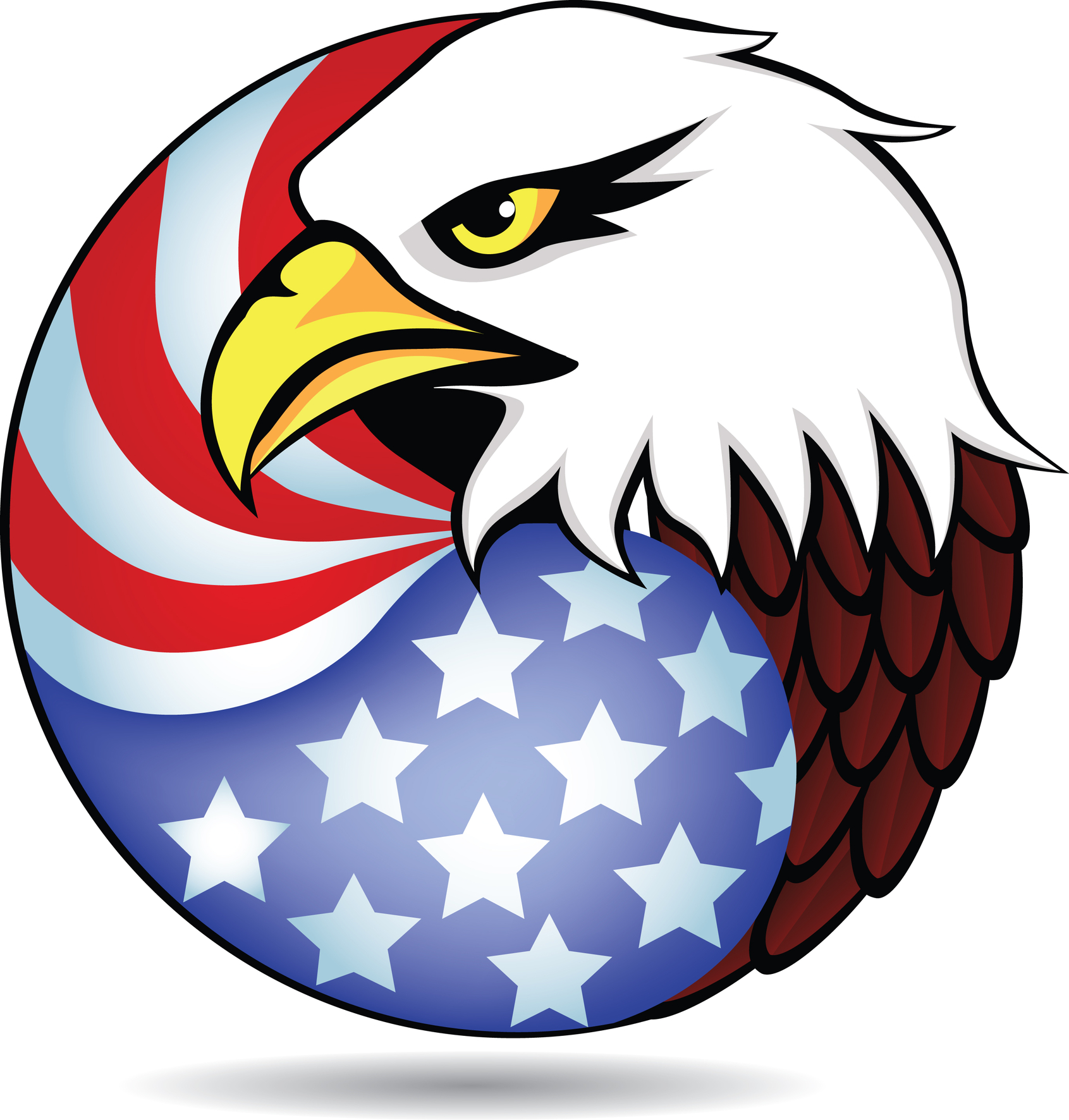 American Flag On Pole Clipart.