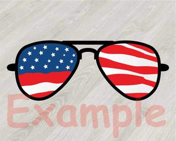 Cow USA Flag Glasses Silhouette SVG clipart cut layer cowboy 4th July 831S.
