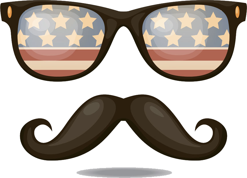 United Sunglasses Of States Flag Retro The Clipart.