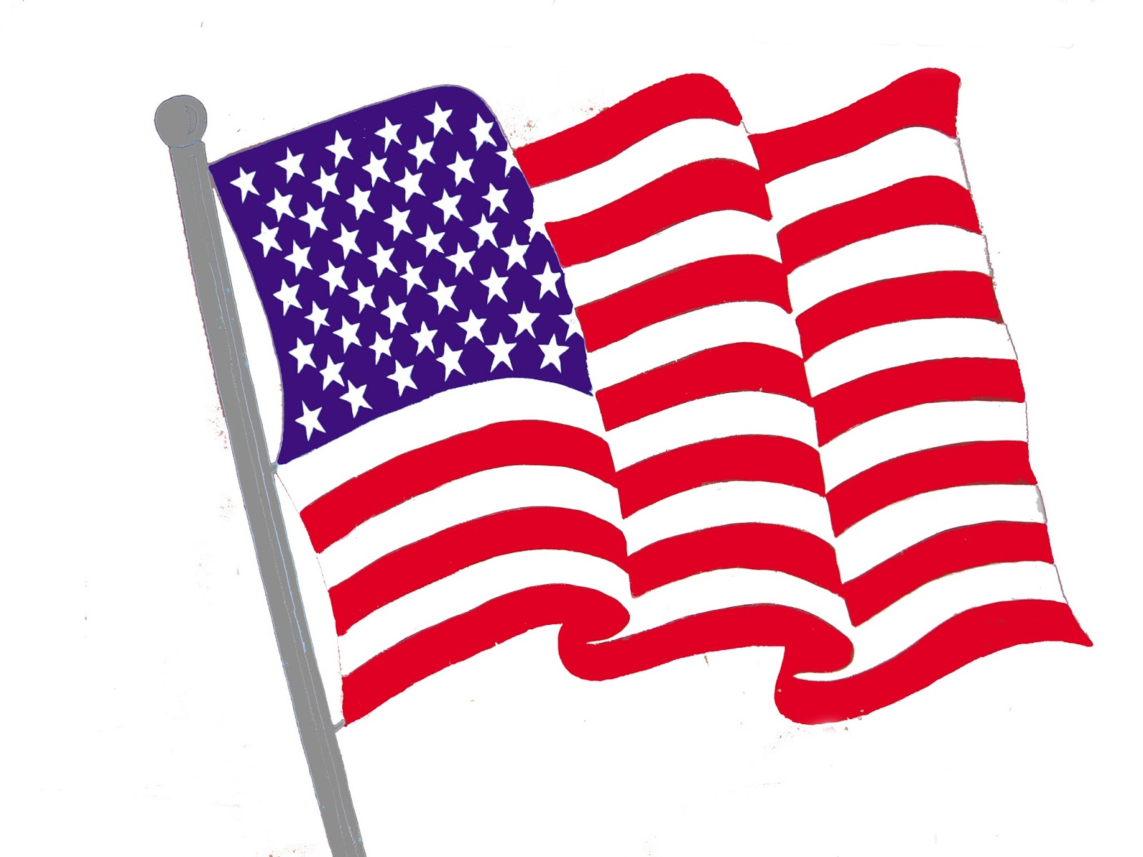 Free Usa Flag High Resolution Clipart.