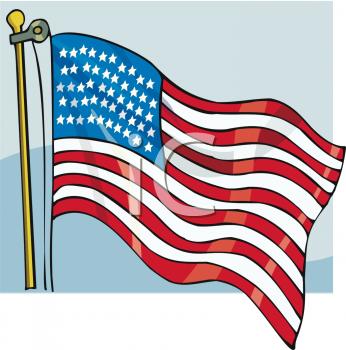 USA Flag Clipart Image.