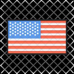 American flag Icon.