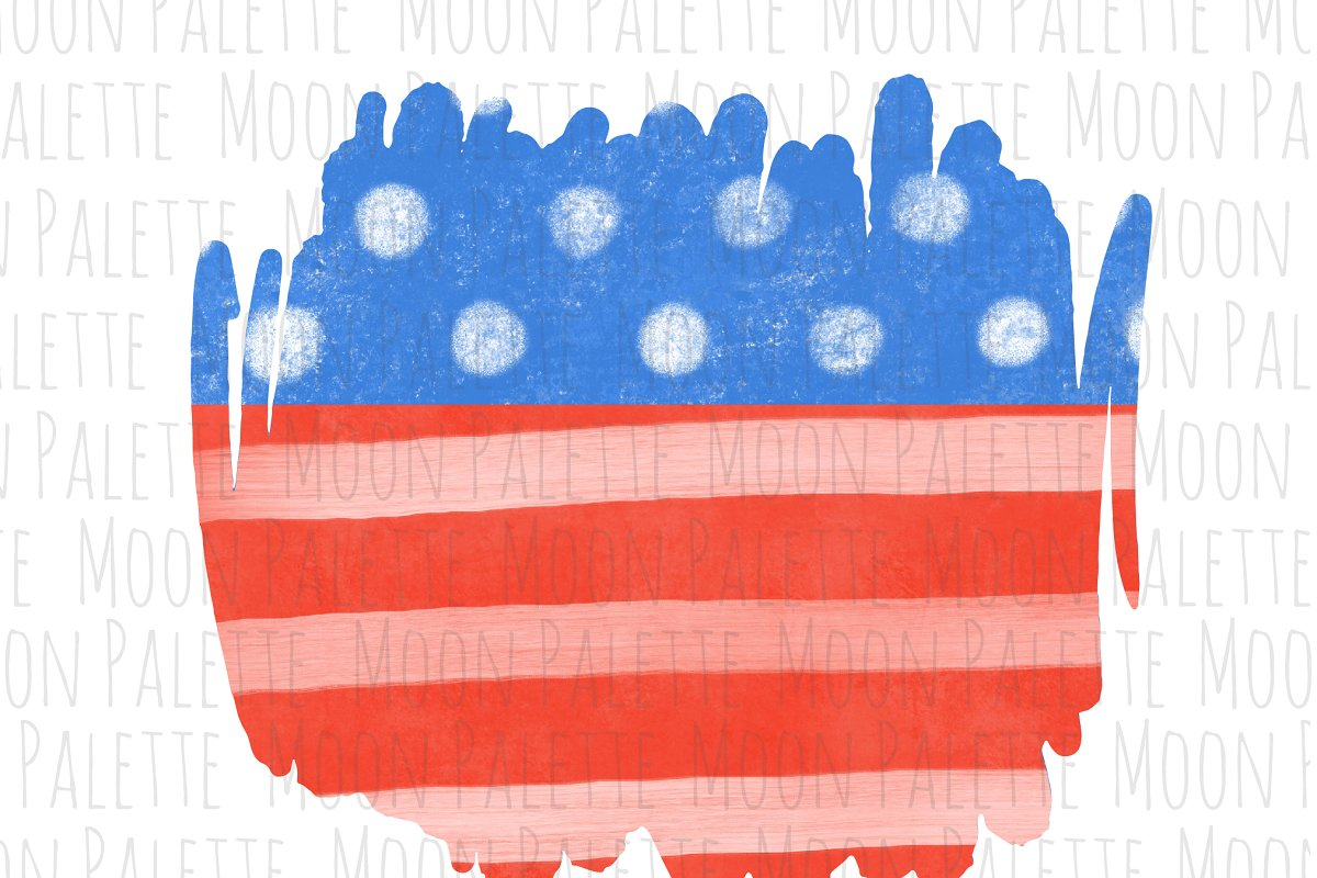 American Flag Clipart PNG Background.