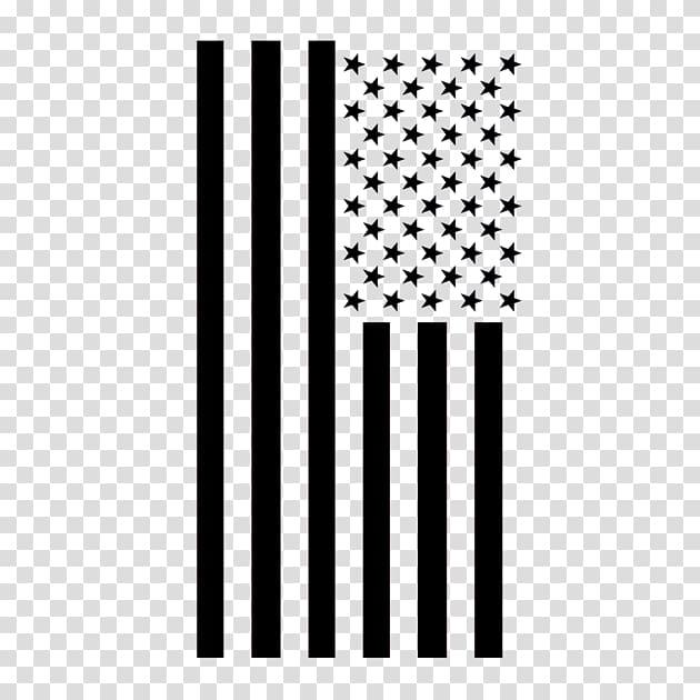 Flag of America in black illustration, Flag of the United.