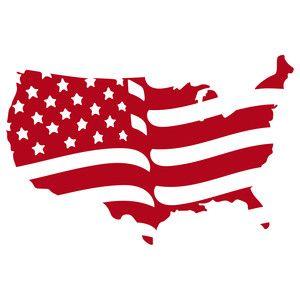 Silhouette Design Store: american flag.
