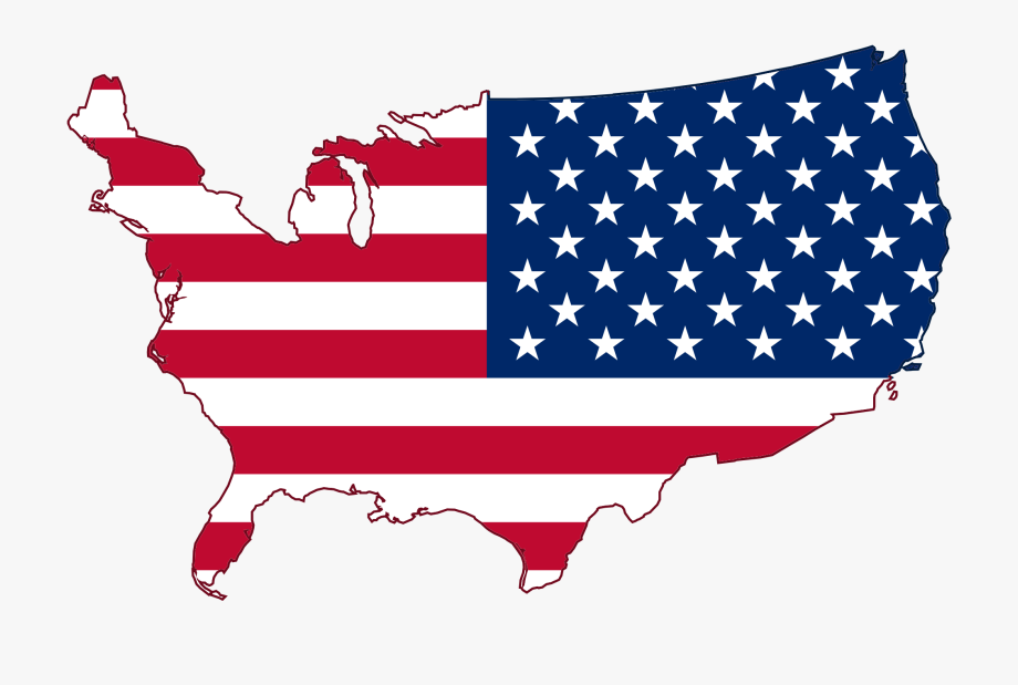 Clipart Of Flag, Mapa Us And Svg States.