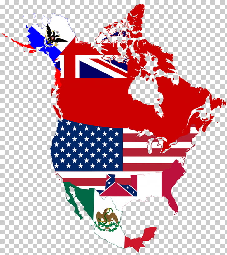 Flag of the United States Flags of North America Map, united.