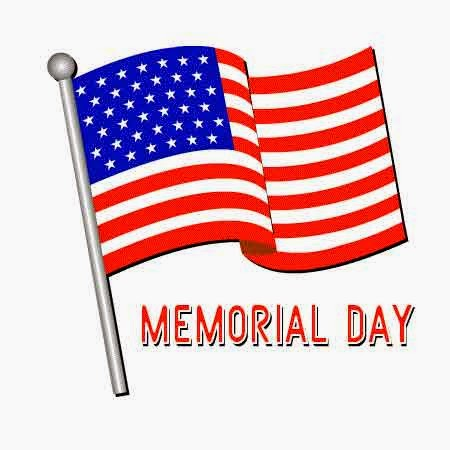 Memorial Day USA Flag Clipart.