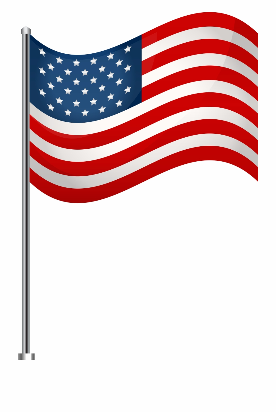 Free American Flag Clipart Transparent Background, Download.