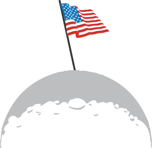 American Moon Landing by customdesignproducts.