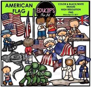 American Flag Clip Art Bundle {Educlips Clipart}.