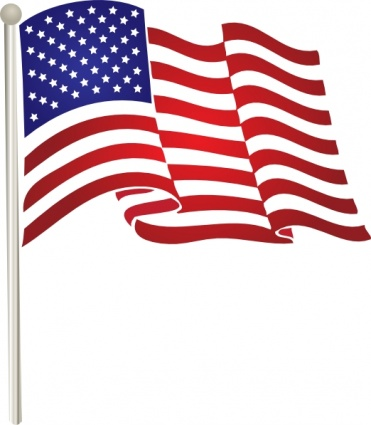American Flag On Pole Clipart.