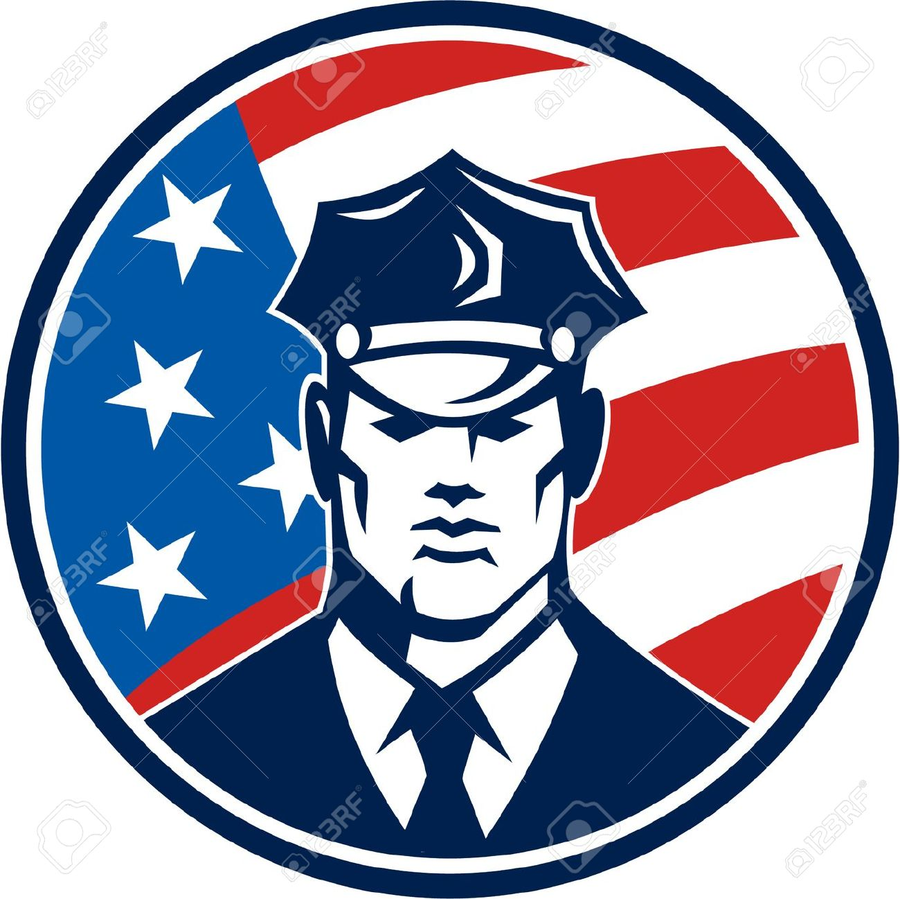 American Flag Police Images & Stock Pictures. Royalty Free.
