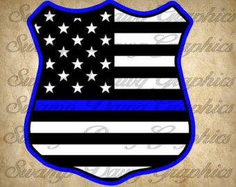 Police flag.