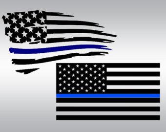 Police flag svg.
