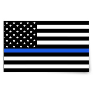 American Flag With Blue Line Clipart.