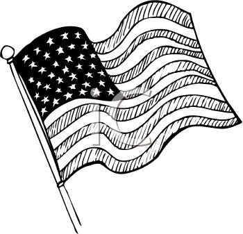 clip art usa flag outline.