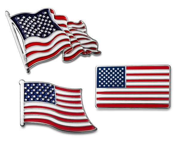 Details about American Flag Lapel Pin Set 3.