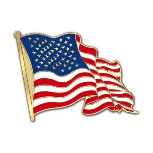 USA Flag Lapel Pin.