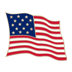 Buy American Flag Lapel Pins in Bulk.