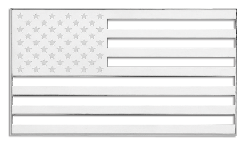 Us Flag Black And White.