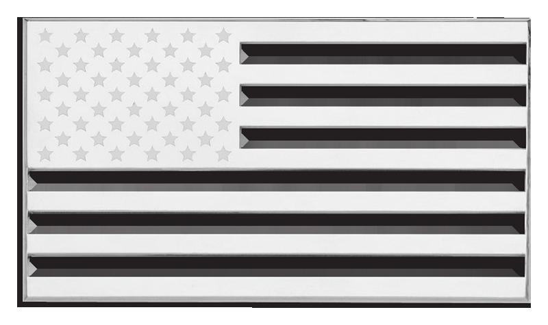 Us Flag Black And White.