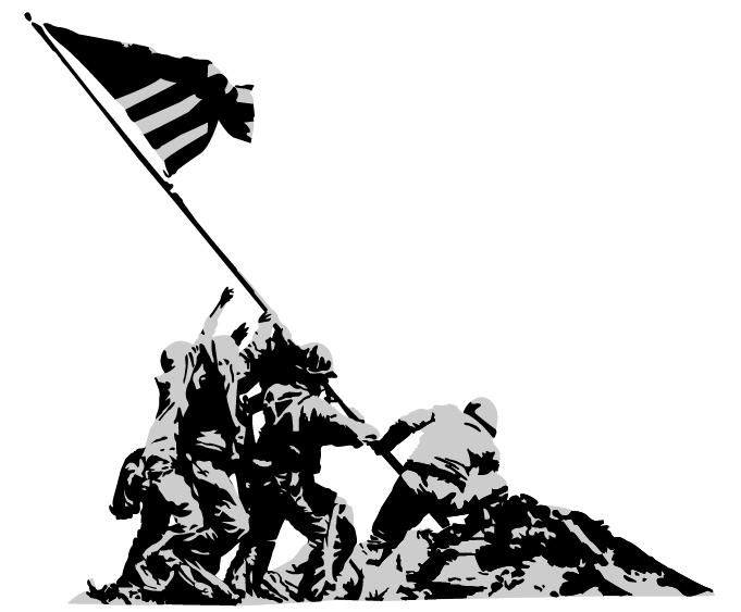 40 Awesome iwo jima silhouette clip art.