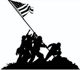 Iwo Jima Silhouette at GetDrawings.com.