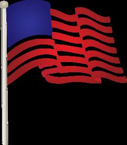 860 Usa Flag free clipart.
