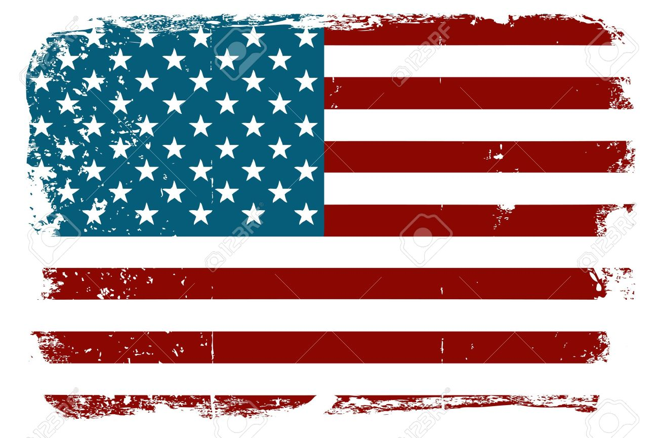 Old American Flag Clipart.