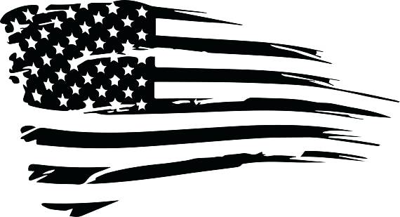 Tattered American Flag Vector at GetDrawings.com.