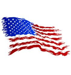 Rustic American Flag Clipart.