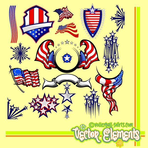USA Flag Clip Art.
