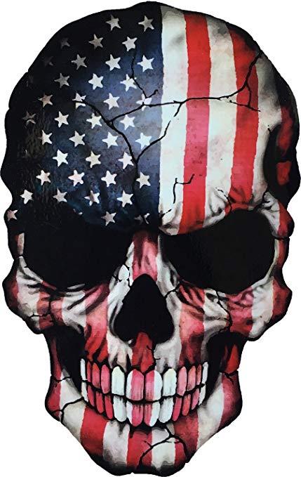 Amazon.com: Sticker Skull American Flag USA Military Decal.