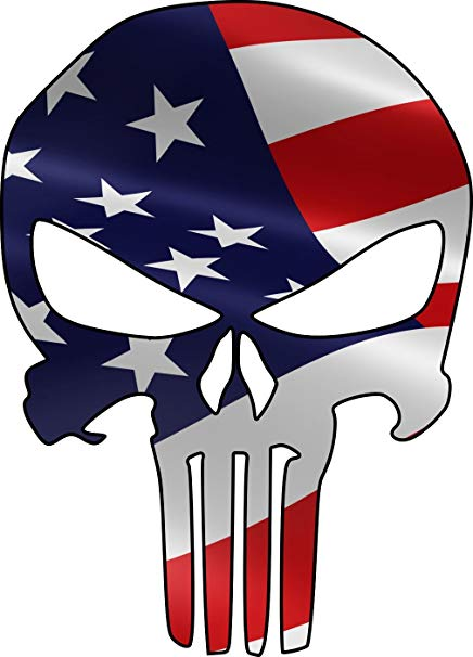 Amazon.com: Punisher American Flag Skull Decal 10 Inches.