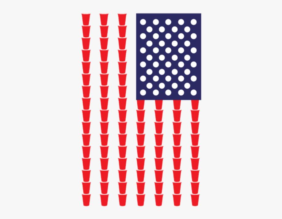Beer Pong American Flag.