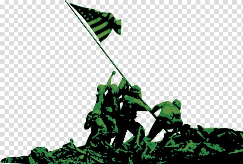 Soldier holding US flag illustration, As.