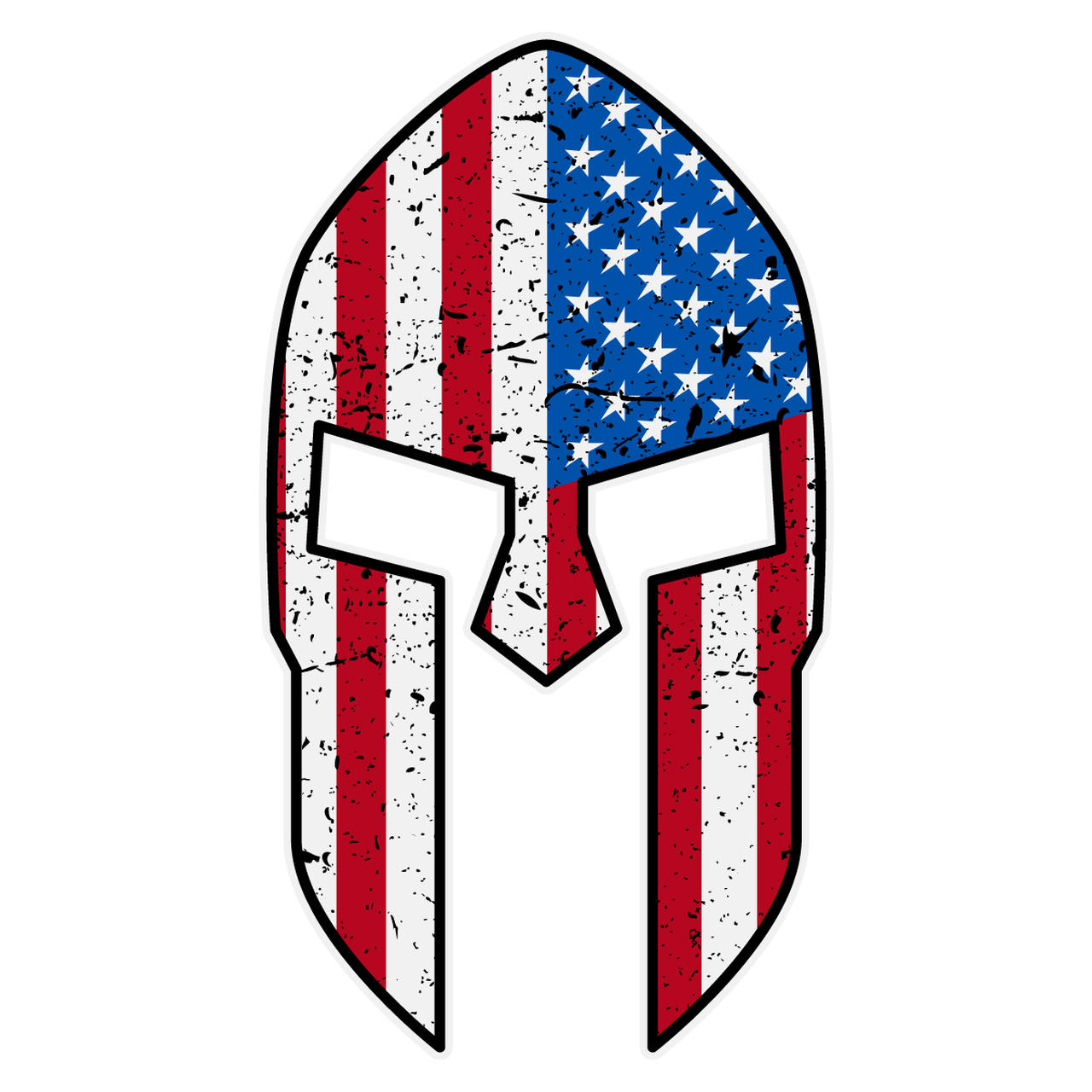 American Flag Spartan Helmet Decal.