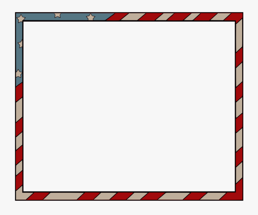 Flag Of America Border , Free Transparent Clipart.