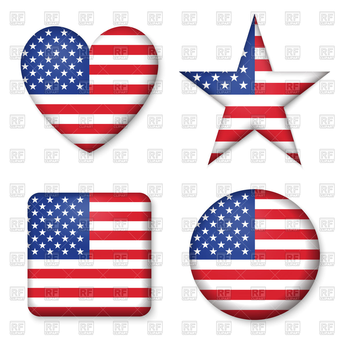 16793 Us Flag free clipart.