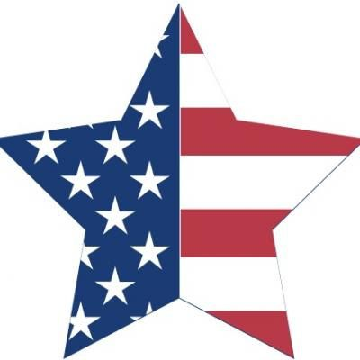 American Flag Star.