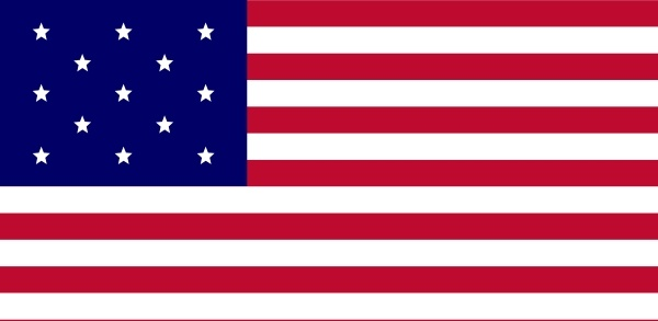 Usa Flag, Fewer Stars clip art Free vector in Open office.