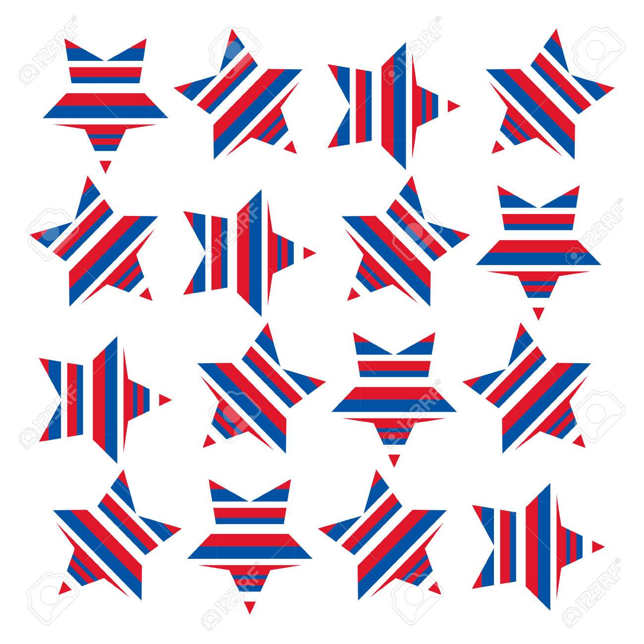 A stars and stripes pattern symbolising the American flag. Stars...