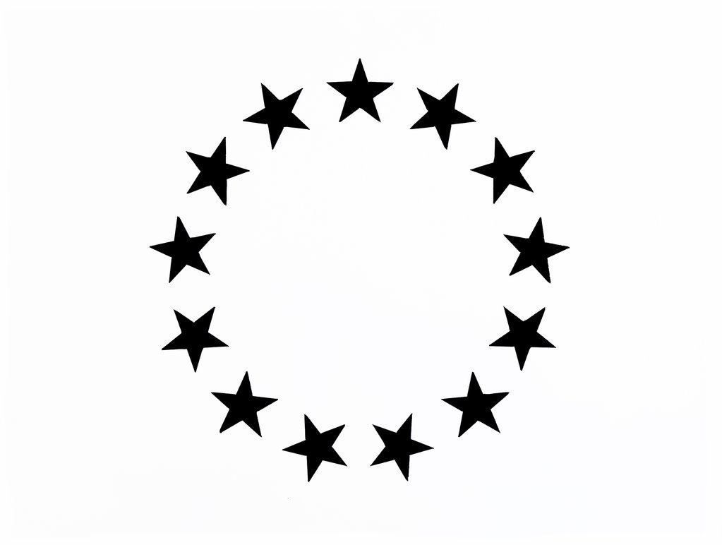 Betsy Ross Star American Flag Stencil (Single/4 Size Options).