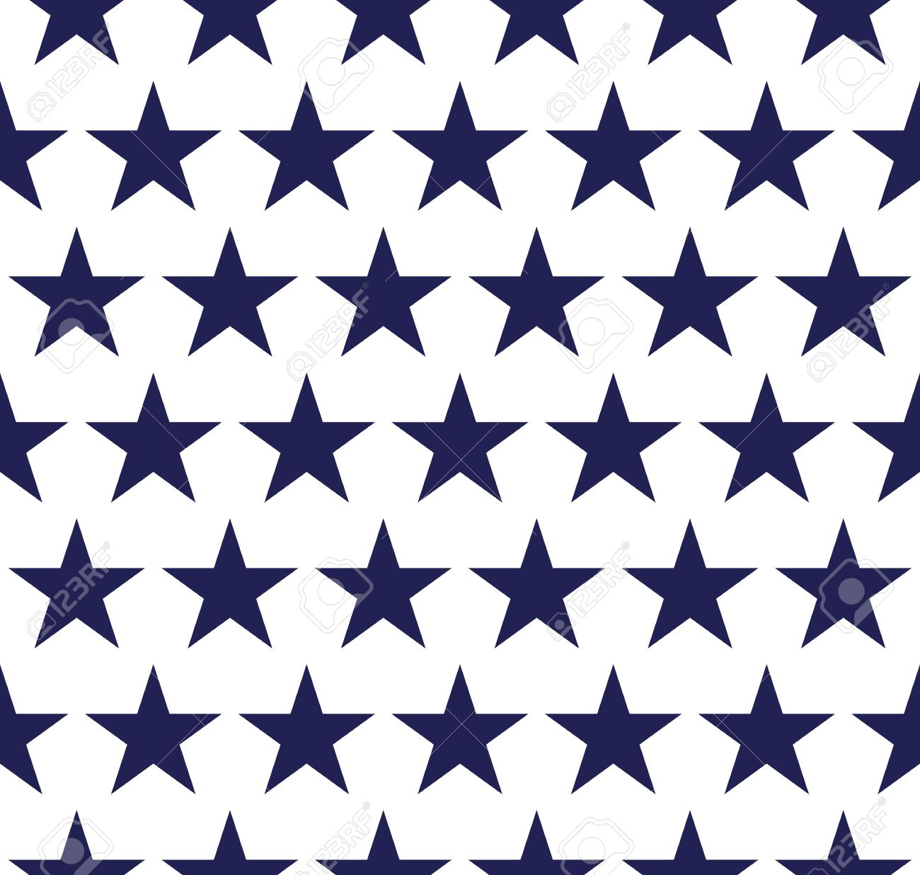 Four seamless pattern with stars in American flag colors.